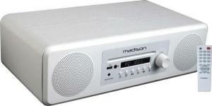 Madison MAD-MELODY Ηχοσύστημα 2.0 50W με CD / Digital Media Player και Bluetooth Λευκό