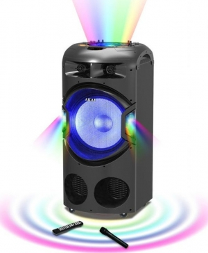 Akai DJ-BY4L Φορητό Bluetooth karaoke party speaker με μίκτη