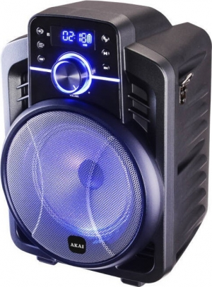 Akai ABTS-I6 Ηχείο karaoke BT-LED, Android & iOS App, ενσύρματο μικρόφωνο και υποδοχή για όργανο – 20 W RMS