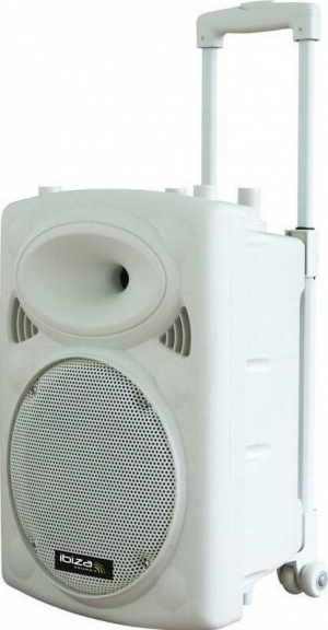 Ibiza Sound PORT15VHF-BT White  Φορητό σύστημα Ήχου 15'' Λευκο