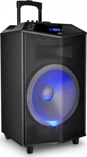 Akai ABTS-DK15 Φορητό BT karaoke party με LED, Aσυρμ. μικρόφωνο και υποδοχή για μικρόφωνο και όργανο – 50 W RMS