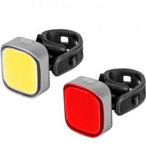 REBEL URZ-3492-L Φώτα ποδηλάτου σετ (με καλώδιο USB)
