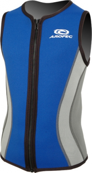 Aropec Neoprene Junior Top Black/ Blue 2mm