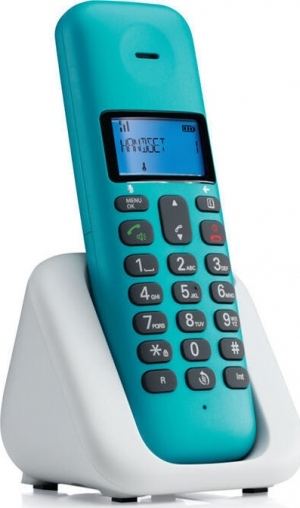 Motorola T301 Turquoise (Ελληνικό Μενού) Ασύρματο τηλέφωνο με ανοιχτή ακρόαση