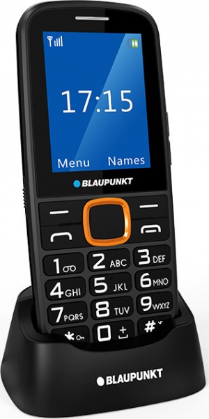 "Blaupunkt BS 04 Black/Orange Κινητό Τηλέφωνο Με LCD οθόνη 2,4"" Και Κουμπί SOS"