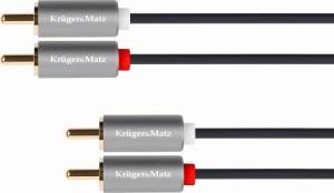 Kruger&Matz KM1213 Καλώδιο 2xRCA - 2xRCA 1m