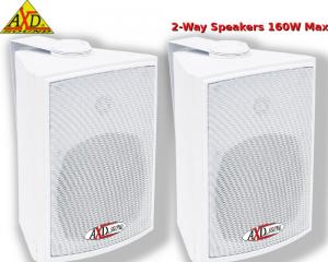 AXD Sound TE5500WH Ζεύγος ηχείων Λευκά 5.25'' 160w