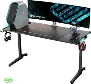 Γραφείο Gaming I55 με Μεταλλικά Πόδια Black 148.2x60x79.5cm