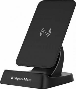 Kruger & Matz KM0129 Wireless Charging Pad (Qi) Μαύρο Ασύρματος φορτιστής