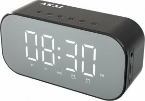 Akai ABTS-C5 Ξυπνητήρι και ηχείο Bluetooth με Aux-In, micro SD και FM – 3 W RMS