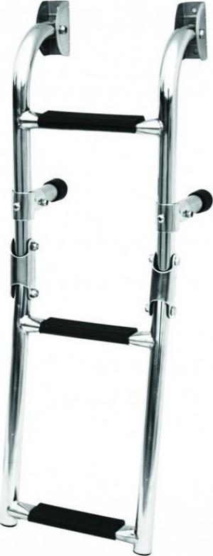 Σκάλα 3 Σκαλοπατια αναδιπλούμενη καθρέπτου Inox SS316 [26cm x 73cm ]