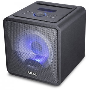 Akai ABTS-B6 Φορητό ηχείο BT karaoke με USB, LED,  SD, Aux-In και Mic – 20 W