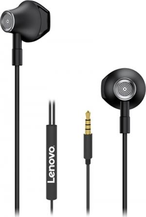 Lenovo HF140 Large Unit Semi In Ear Metal Earphone –Μαύρο