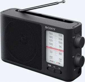 Sony ICF-506 Φορητό Ραδιόφωνο Ρεύματος / Μπαταρίας Μαύρο