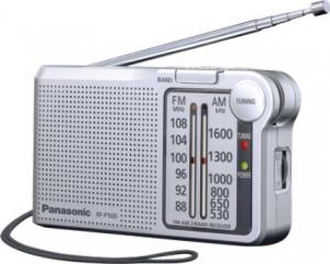Panasonic RF-P150D Φορητό Ραδιόφωνο Μπαταρίας Ασημί