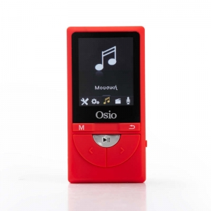 Osio SRM-9380R MP3 video player με audio in και micro SD – 8 GB
