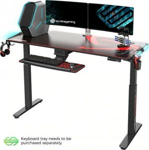 Γραφείο Gaming S62B με Μεταλλικά Πόδια Black 164.4x70x76cm
