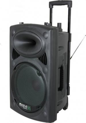 Ibiza PORT12VHF-BT φορητό σύστημα ήχου. ΜΑΥΡΟ.