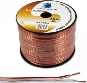 Cabletech DM-0311K.Καλώδιο Ηχειων 100m κουλούρα 2x 0.75mm