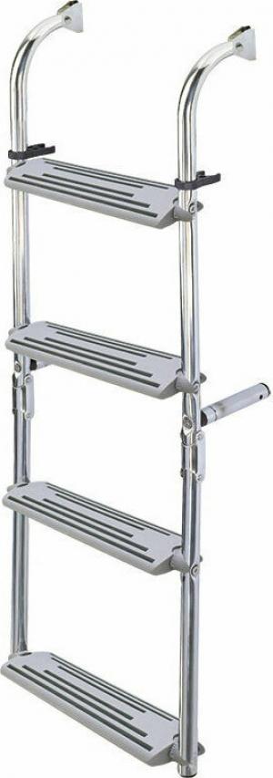 Σκάλα 4 Σκαλοπατια αναδιπλούμενη καθρέπτου Inox SS316 [20cm x 63cm]