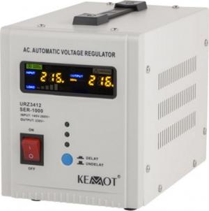 Kemot SER-1000 Σταθεροποιητής Τάσης Servo 1000VA με 2 Πρίζες Ρεύματος