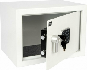 Osio OSB-2535WH Ψηφιακό Χρηματοκιβώτιο με Κλειδί Μ25xΠ35xΥ25cm
