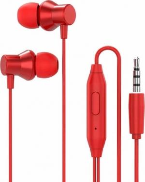 Lenovo HF130 Metal In Ear Eearphone – Κόκκινο