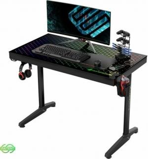 Γραφείο Gaming I43 με Μεταλλικά Πόδια Black 110x60x78.5cm