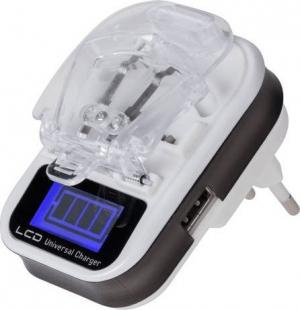 REBEL RB-6301 Φορτιστής για μπαταρίες Li-ion/Li-poly με USB LCD