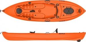 Seaflo LUPIN-SF-1007 Orange  Μονοθέσιο καγιάκ για ψάρεμα με ενσωματωμένη ρόδα στην πρύμνη και κουπί - Πορτοκαλι