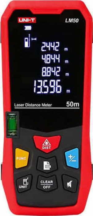 UNI-T LM50.Ψηφιακός Μετρητής Απόστασης Laser 50m