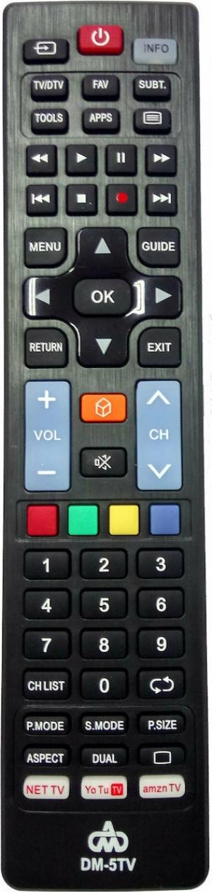 DM-5TV 5 σε 1 για τηλεοράσεις LG / Panasonic / Philips / Samsung / Sony