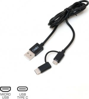 Osio OTU-495B Καλώδιο USB σε micro USB & USB TYPE C με αντάπτορα – 1 m